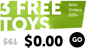 3 FREE Toys With Orders $29+