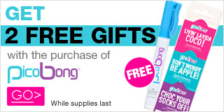 Get 2 Free Gifts with the purchase of Pico Bong