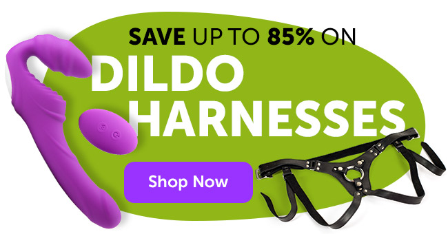 Save up to 85% on Harnesses and Strap-Ons