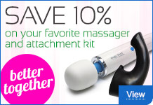 Get 10% off your favorite massager and attachment kit!