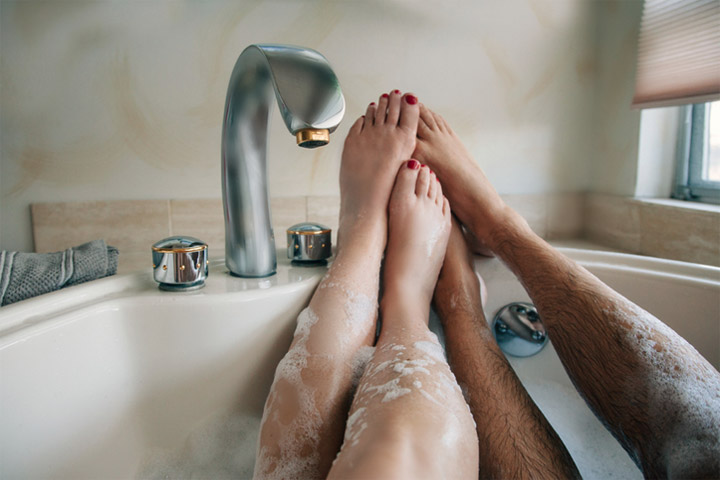 Couple in the bath