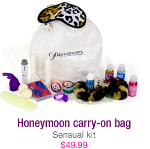 Honeymoon carry-on bag - sensual kit - $49.99