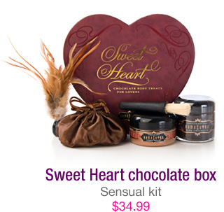 Sweet Heart strawberry box - sensual kit - $34.99