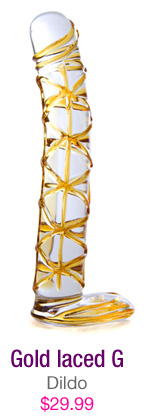 Gold laced G - dildo - $29.99