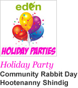 Community Holiday Party - Community Rabbit Day Hootenanny Shindig