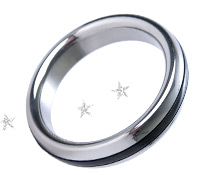 Black band stainless steel cock ring - cock ring, <%#Customer.Current.Culture.FormatMoney(23.99m)%>