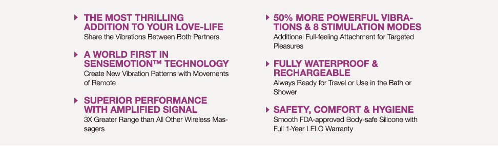 LELO Insignia features