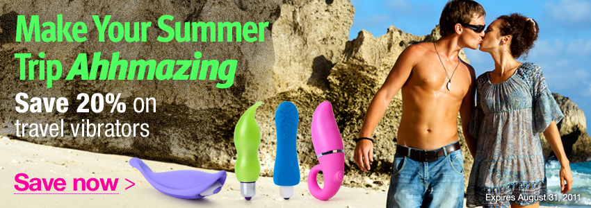 Make your summer trip ahhmazing - Save 20% on travel vibrators
