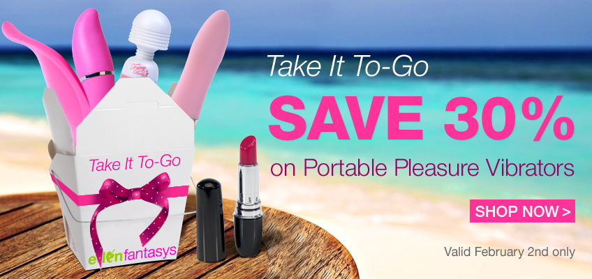 Take It To-Go - Save 30% on Portable Pleasure Vibrators