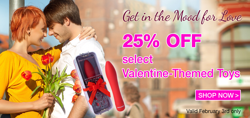 Get in the Mood for Love - 25% OFF - select Valentine-Themed Toys