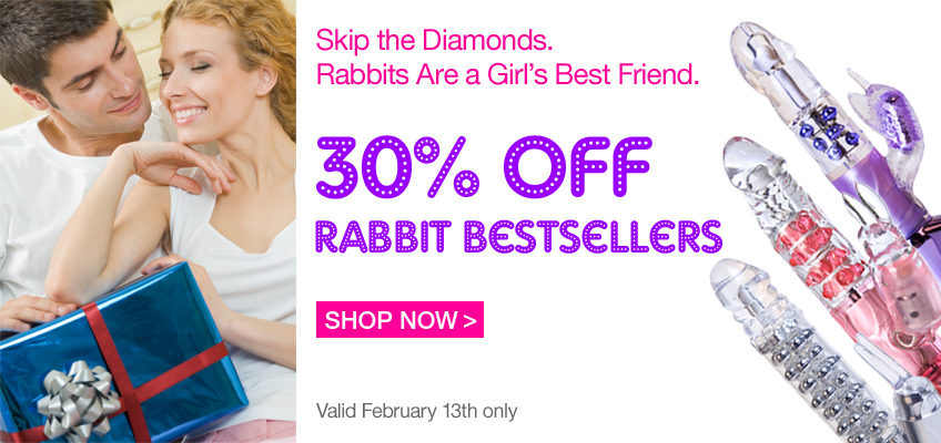 Skip the Diamonds. Rabbits Are a Girl's Best Friend. 30% OFF Rabbit Bestsellers