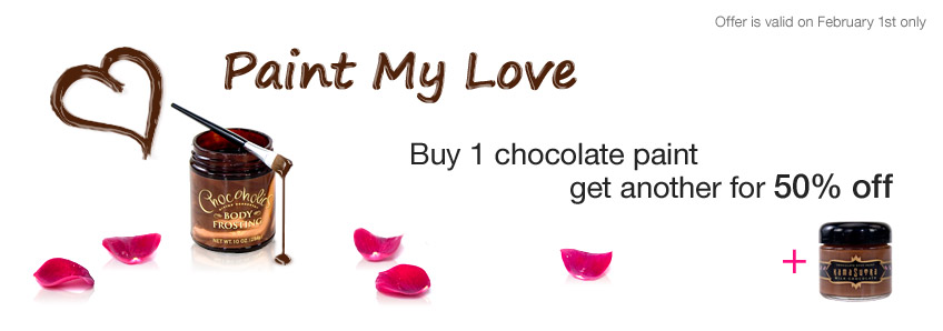 Buy 1 chocolate paint and get another for 50% off