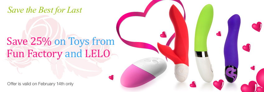 Save 25% on Toys from Fun Factory and LELO