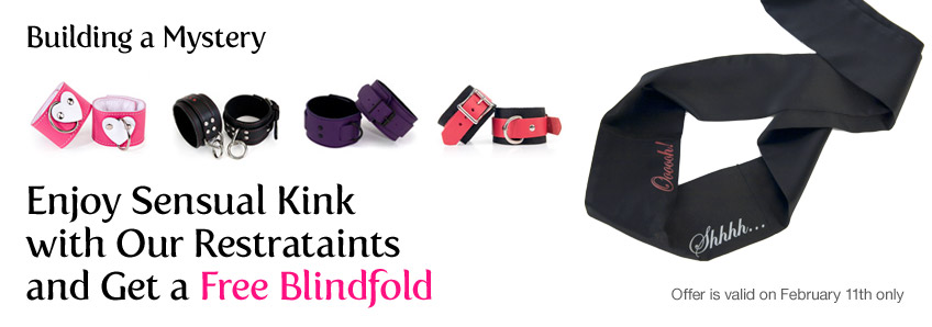 Enjoy Sensual Kink with Our Restrataints and Get a Free Blindfold