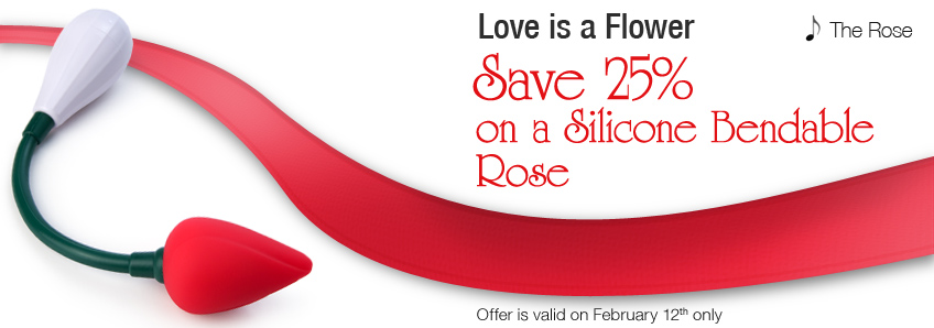 Save 25% on a Silicone Bendable Rose