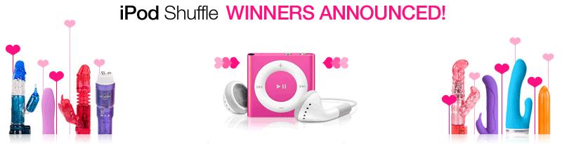 iPod Shuffle winners announced!
