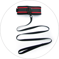 Red hot fantasy collar and leash