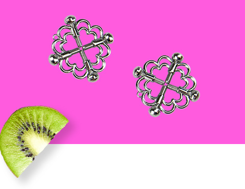 Flower nipple clamps