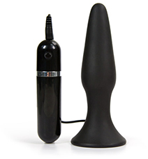 Eden vibrating silicone anal plug